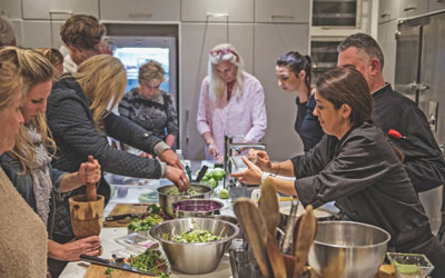 Interactive Cooking Class at Ginger and Lime Food Studio for two people
