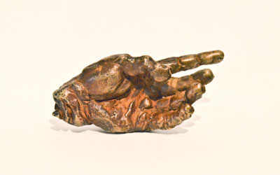 Netsuke – A Free Hand – Bronze by Stephen Rautenbach