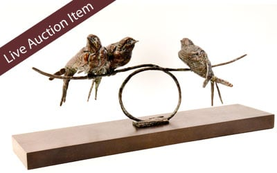 Swallows on Line – Bronze by Stephen Rautenbach